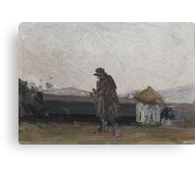 Modest Urgell, Barcelona, Sketch of a landscape with figure Canvas Print