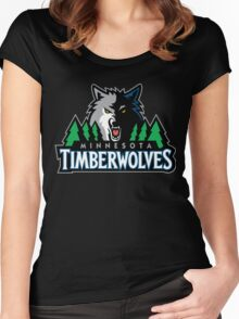 Timberwolves Women's Fitted Scoop T-Shirt