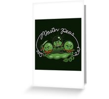 Master Peas Greeting Card