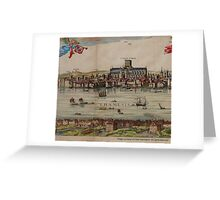 The Visscher Panorama of London,  Greeting Card