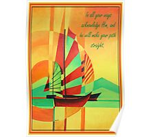 In All Your Ways Acknowledge Him Greeting Card Poster