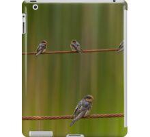 birds on the wire iPad Case/Skin