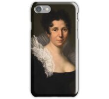 GERMAN  ARTIST, of the first half of the 19th century, Portrait of a Lady in a White Lace Collar iPhone Case/Skin