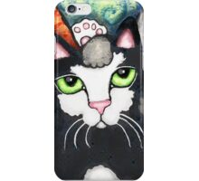 Siamese Tabby and Tuxedo Cats Posing Art Print iPhone Case/Skin