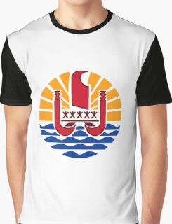 National coat of arms of French Polynesia Graphic T-Shirt