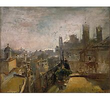 Ramon Marti Alsina, Barcelona,  View of Barcelona from a rooftop Riera de Sant Joan Photographic Print