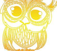 Owl mandala - orange gradient by TswizzleEG