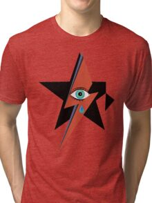 David Bowie : A rock star went to heaven Tri-blend T-Shirt
