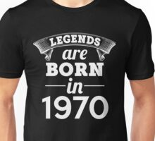 legends are born in 1970 shirt hoodie Unisex T-Shirt