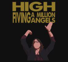 Liz Lemon - High fiving a million angels Kids Tee