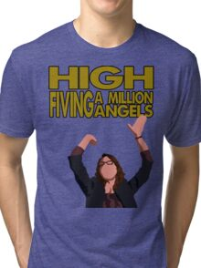 Liz Lemon - High fiving a million angels Tri-blend T-Shirt