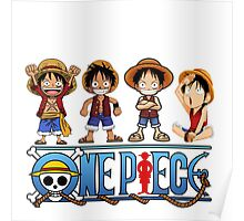 Luffy Kids - One Piece Poster