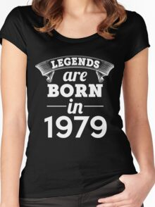 legends are born in 1979 shirt hoodie Women's Fitted Scoop T-Shirt