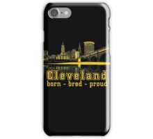 Heritage Park reflecting in the Cuyahoga river. iPhone Case/Skin