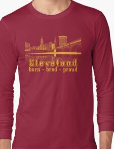 Heritage Park reflecting in the Cuyahoga river. Long Sleeve T-Shirt
