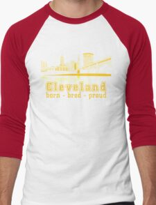 Heritage Park reflecting in the Cuyahoga river. Men's Baseball ¾ T-Shirt