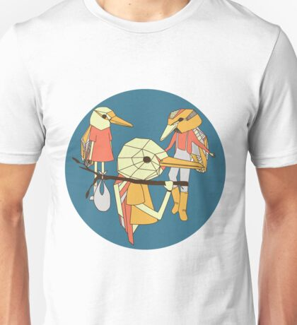 Gumboots and Birds Unisex T-Shirt