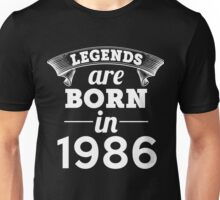 legends are born in 1986 shirt hoodie Unisex T-Shirt