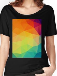 colorful crystal pattern Women's Relaxed Fit T-Shirt