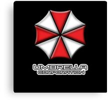 Umbrella Corporation Red And White Canvas Print