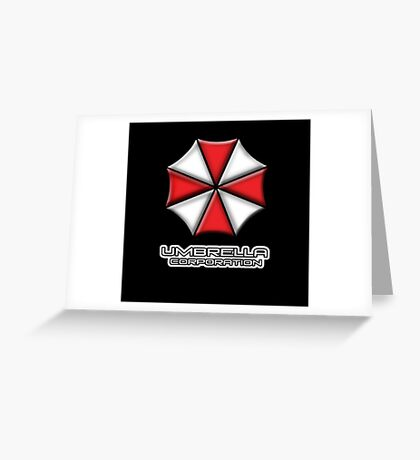 Umbrella Corporation Red And White Greeting Card