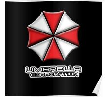 Umbrella Corporation Red And White Poster
