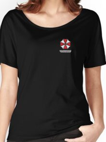 Umbrella Corporation Red And White Women's Relaxed Fit T-Shirt