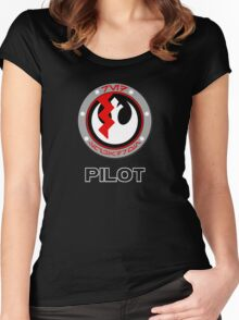 Star Wars Episode VII - Red Squadron (Resistance) - Star Wars Veteran Series Women's Fitted Scoop T-Shirt