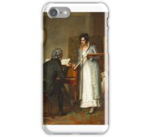Henry Stacey Marks - The Music Lesson  iPhone Case/Skin