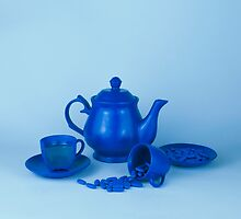 Blue tea party madness still life by josemanuelerre