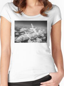 Two Avro Vulcan B1 nuclear bombers BW version Women's Fitted Scoop T-Shirt