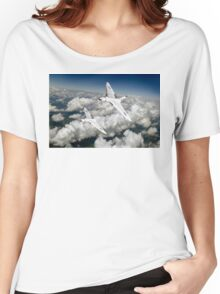 Two Avro Vulcan B1 bombers above clouds Women's Relaxed Fit T-Shirt