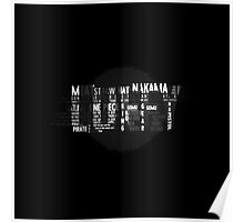 Luffy Words - One Piece Poster