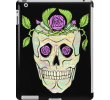 Pirate skull with flowers wreath vector illustration. iPad Case/Skin