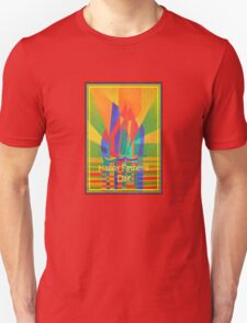 Happy Father's Day Dreamboat Cubist Junk In Primary Colors T-Shirt