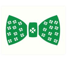 Lucky charm ribbon St.Patrick's day Art Print