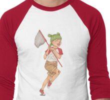 Yotsuba with Net Men's Baseball ¾ T-Shirt