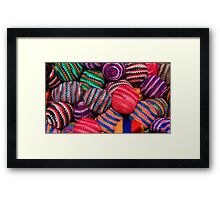 Colorful Knit Balls Framed Print