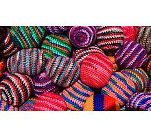 Colorful Knit Balls Photographic Print