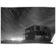 Abandoned Airfield Star Trails Poster