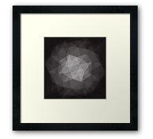 black crystal pattern Framed Print