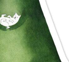 Dinosaur and cat Sticker