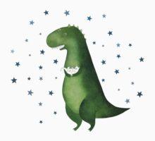 Dinosaur and cat One Piece - Short Sleeve
