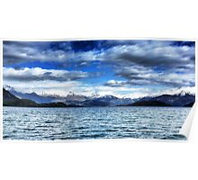 clouds over lake wanaka Poster