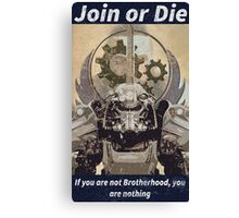 Fallout Brotherhood of Steel Faction Poster Canvas Print