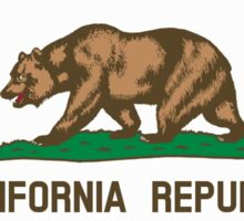 Bear Flag, California, Californian, Californian Flag, Flag of California, California Republic,  State flags of America, USA, on Black Sticker