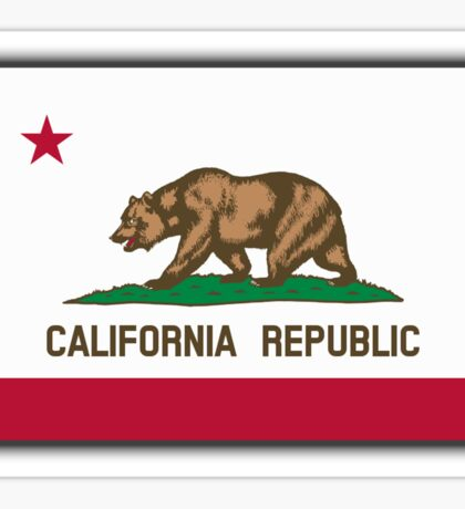 Bear Flag, California, Californian, Californian Flag, Flag of California, California Republic,  State flags of America, USA, on Black Sticker