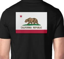 Bear Flag, California, Californian, Californian Flag, Flag of California, California Republic,  State flags of America, USA, on Black Unisex T-Shirt