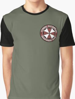 Zombie outbreak response patch Graphic T-Shirt