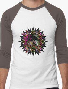 Aztec meeting psychedelic T-shirt Men's Baseball ¾ T-Shirt